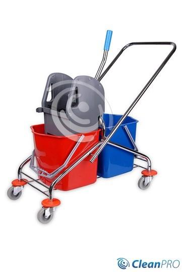 CleanPRO Wózek 2x20 l z prasą