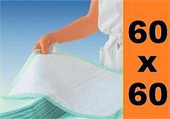 Podkłady higieniczne na łóżko 60x60cm 25szt