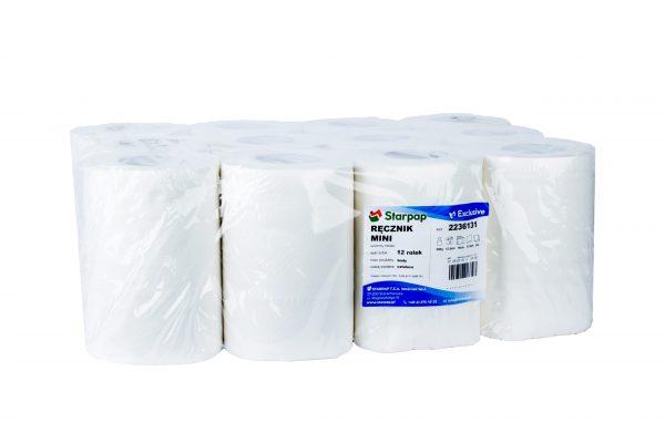 Ręczniki papierowe MINI 100% celuloza 12 szt białe