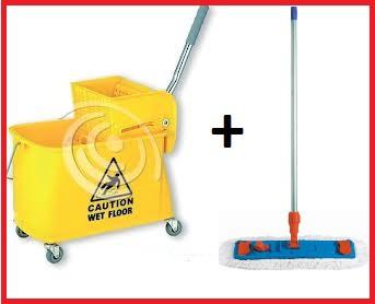 Zestaw wózek z prasą + mop speedy 40cm