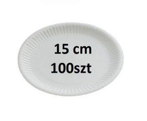 TALERZ PAPIEROWY 15CM 100SZT